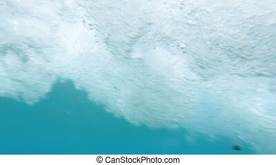 4k under water video of powerful sea waves. Perfect shot for...