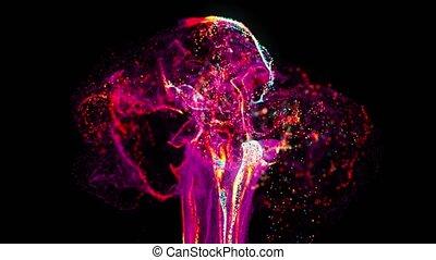 4K Unique Particle Burst Background. Advanced CGI...