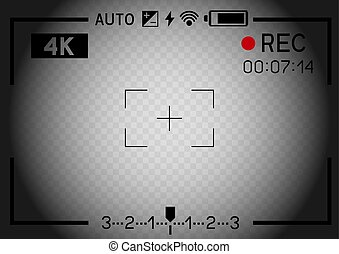 4K video camera viewfinder hole