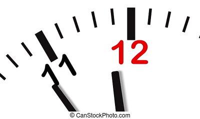 4K video of clock close-up - 4K (ultraHD) video animation of...