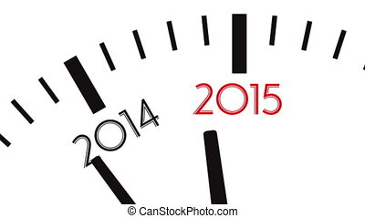 4K video of clock countdown from year 2014 to 2015 - Clock...