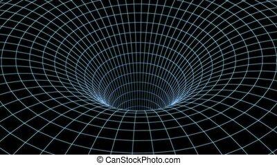 4k wormhole, speed tunnel warp. 3d animation