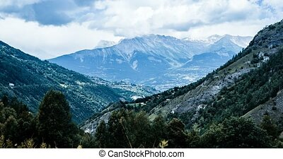 4k, zeit- versehen, ansicht, auf, wildhorn, berg, schweiz