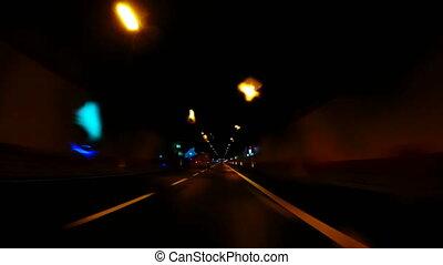 4k_Driving through a tunnel