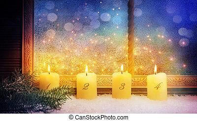 4th Advent, Window decorations