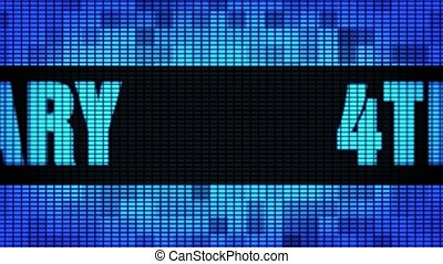 4th Anniversary Front Text Scrolling LED Wall Pannel Display...