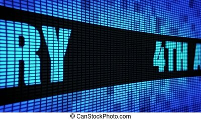 4th Anniversary Side Text Scrolling LED Wall Pannel Display...