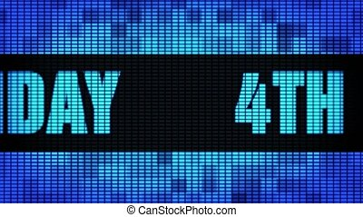 4th Happy Birthday Front Text Scrolling LED Wall Pannel...