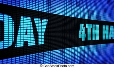 4th Happy Birthday Side Text Scrolling LED Wall Pannel...