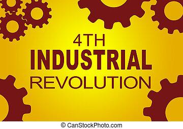 4th, industrial, revolução, conceito