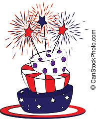 4th juli, tårta