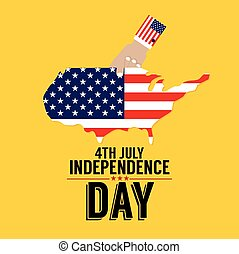 4th July American Independence Day.