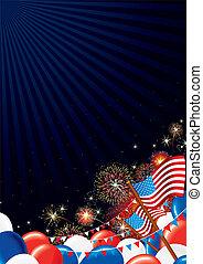 4th July Background - 4 th July Background. Festive Firework...