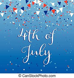 4th july background with flags and confetti 2905