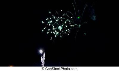 4th July fireworks. Fireworks display on dark sky...