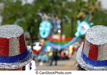4th July hats - Two usa patriotic hats at a 4th o July...