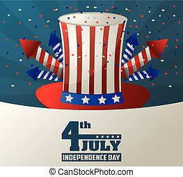 4th july independence day top hat fireworks celebration liberty patriotic