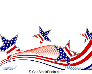 4th july independence day - Vector illustration of blue and ...
