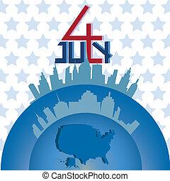 4th July of America