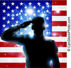 4th July or Veterans Day Illustrati - Patriotic soldier or...