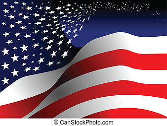 4th july Poster Independence day of United States of America with place for text