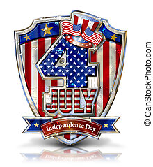 4th July Shield 2g - 4th July Graphic on Shield with Uncle...