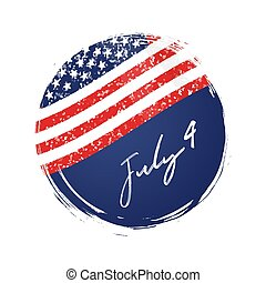 4th July USA flag background. Independence Day America...