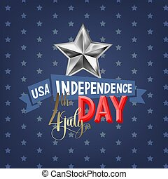 4th july USA independence day greeting card