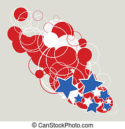 4th of july abstract design