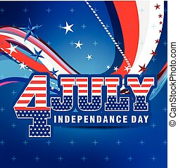 4th of July American Independence Day Background vector illustration