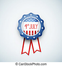 4th of july American independence day badge