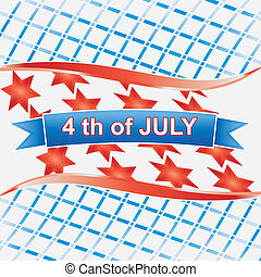 4th of july American.vector isolated on wihte