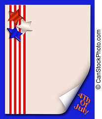 4th of July background or border - illustration composition...