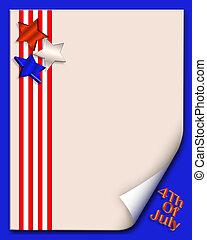 4th of July background or border - illustration composition ...