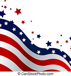 Vector illustration of a blue and red stars and stripe background
