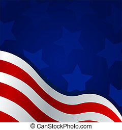 4th of july background - Vector illustration of a blue and...
