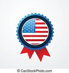 4th of july badge - vector 4th of july american independence...