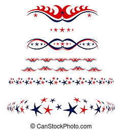 4th of July borders