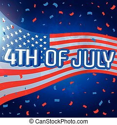 4th of july celebration background with confetti