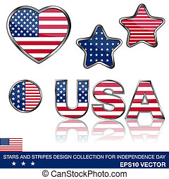 4th of July collection - Collection of glossy design...
