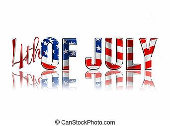 4th of July Dimensional Reflective Lettering