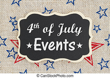 4th of July events message