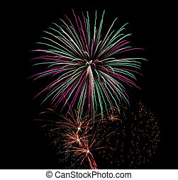4th of July Fireworks - Brightly colored 4th of July...