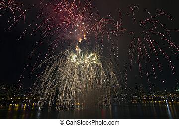4th of July Fireworks Display Portland Oregon 2013