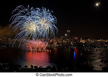 4th of July Fireworks in Boston - The 4th of July...