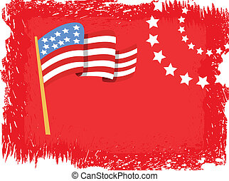 4th of July Flag background Vector