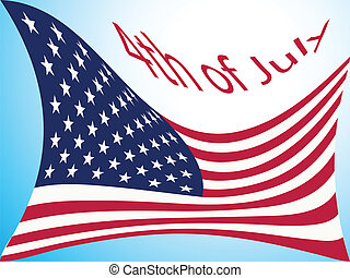 4th of july flag