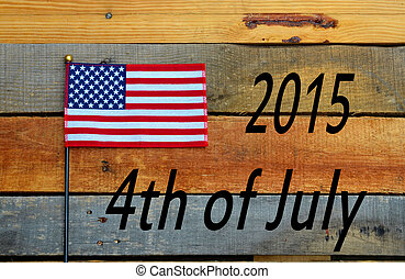 4th of July Flag on pallet wood