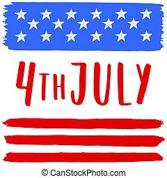 4th of July illustration.