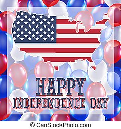 4th of july independence day balloon background